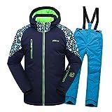SXSHUN Combinaison de Ski Epaisse Imperméable Manteau Veste de Sport Neige Hiver Coupe Vent Vêtements d'extérieur pour Enfant Fille Garçon