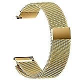 YEARNLY 22mm / 20MM / 18MM / 16MM / 14MM Uhrenarmband, Smart Watch Ersatzband mit Edelstahl Magnet-Verschluss für Alle Uhren
