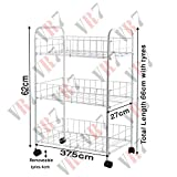 Fruit Vegetable 3 Tier Rack Storage Shelf Organizer Stand CART Trolley Kitchen
