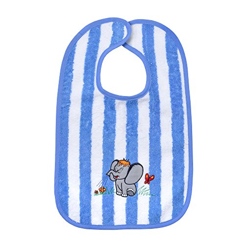 worner-sudfrottier-baby-blu-oltremare-elefante-ringel-bavaglino-asciugamani-da-bagno-guanto-da-bagno