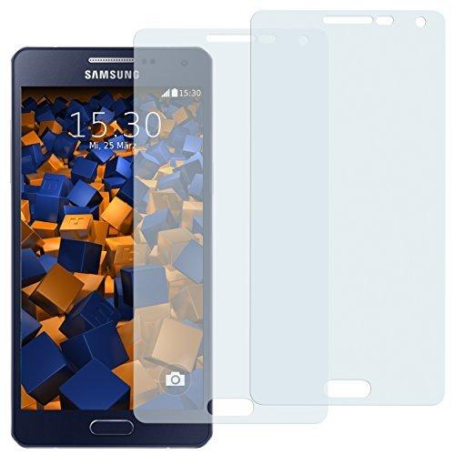 mumbi Schutzfolie kompatibel mit Samsung Galaxy A5 2015 Folie klar, Bildschirmschutzfolie (2x)