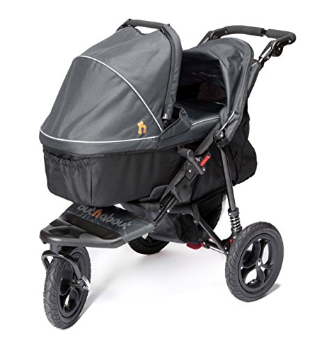 OUT N ABOUT NIPPER CARRITO CON CAPAZO EN ACERO GRIS