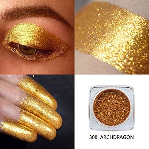 Cwemimifa Mineral Eyeshadow,PHOERA Glitter Powder Shimmering Colors Lidschatten Metallic Eye Cosmetic,Mehrfarbig