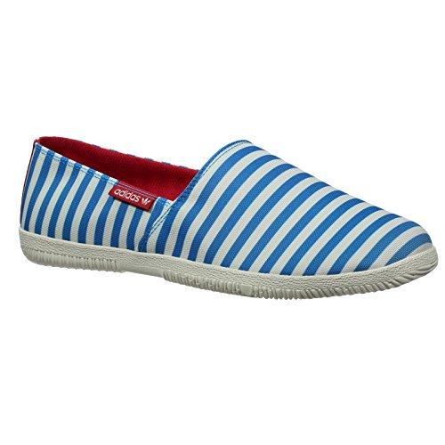 Adidas originals - espadrilla da uomo - in tela - blu/bianco - 44