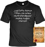 Witziges Spaß-Shirt + gratis Fun-Urkunde: ...sag bitte deine Titten...