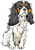 Best Design With Vinyl Decals Friend Items For Girls - Dog Cavalier King Charles Spaniel 7 x 4.9 Review