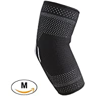 COMPRESSX Fitness Elbow Sleeve/Elbow Compression Sleeve/Elbow Support - Men & Women - Brace For Arm Protection, Weightlifting, Tennis & Golf Elbow, Gym, Bodybuilding, Sports & Tendonitis(Medium)