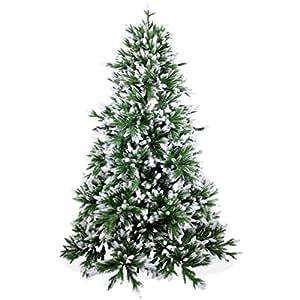 Künstlicher Weihnachtsbaum 180cm DeLuxe in Premium Spritzguss Qualität, angeschneite Nordmanntanne, Tannenbaum mit PE Kunststoff Nadeln, Nordmannstanne Christbaum im beschneit Design