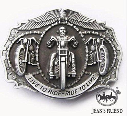 napolo Western Buckle Belt Cowboy gurtelschnallen New Biker let it Ride United to Ride