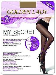Goldenlady Damen Halterlose Strümpfe My Secret 40 3p, 40 DEN, 3er Pack, Transparent (Melon 001a), X-Large (Herstellergröße: 5 – XL)