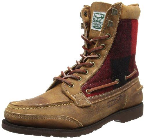 Sebago FILSON OSMORE B73107, Bottes homme Multicolore - Brown/Red/Black Wool