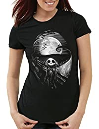 style3 Munch Nightmare T-Shirt Femme jack skellington cri monsieur de noël