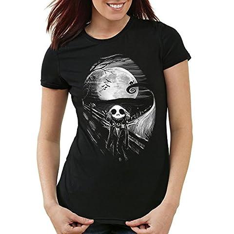 style3 Munch Nightmare Damen T-Shirt jack skellington schrei christmas before weihnachten edward, Größe:XS