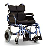 "Super Deluxe Transit Folding Wheelchair Lightweight Crash Tested with Cushion (18"")"