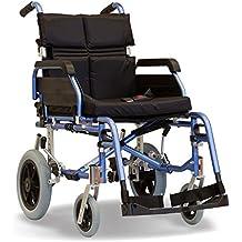 Super Deluxe–Silla de ruedas plegable ligero a prueba de accidentes de tránsito, con cojín