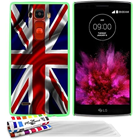 Carcasa Rigida Ultra-Slim LG G FLEX 2 de exclusivo motivo [Bandera gran bretana uk] [Verde] de MUZZANO  + 3 Pelliculas de Pantalla