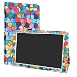 LiuShan Alcatel OneTouch Pixi 3 10 Funda, Folio Soporte PU Cuero Con Funda Caso para 10.1' Alcatel OneTouch Pixi 3 10 Android Tablet,Stained Glass