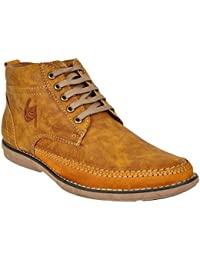 Lee Grain Pure Leather Tan Casual Shoe