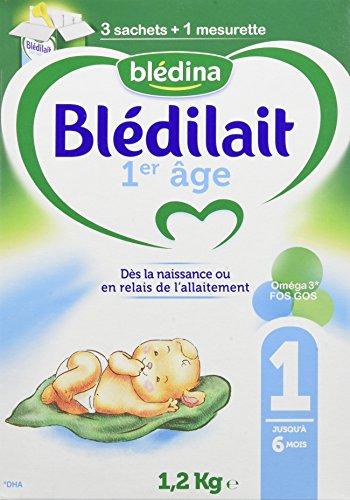 Blédina Blédilait - Lait bébé 1er âge en poudre de 0 à 6 mois 1,2 kg - Pack de 3