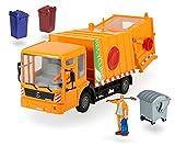 Dickie Spielzeug 203414498 - Street Service, Müllwagen, Maßstab 1:24, circa 38 cm, orange