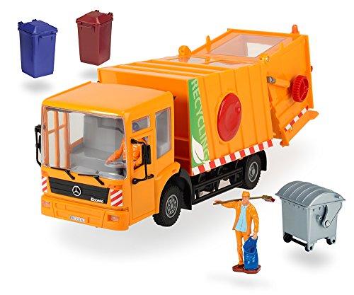 414498 - Street Service, Müllwagen, Maßstab 1:24, circa 38 cm, orange (Dickie-spielzeug-müll-lkw)