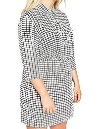 6cac058ecac4 Boohoo Ivory Black Check Dress or Long Shirt Top
