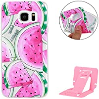 Ekakashop Samsung Galaxy S7 Edge Funda,Galaxy S7 Edge Bumper Case,Samsung Galaxy S7 Edge Funda Silicona de Gel TPU Cover, Defensor Carcasa para Samsung Galaxy S7 Edge,Sandía