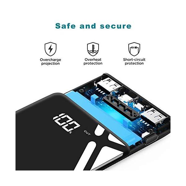 KREKCO Caricabatterie Cellulare Portatile 20000mAh capacità Power Bank Alta LED Display Digitale Intelligente Batteria… 4 spesavip