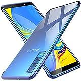 KuGi Coque Samsung Galaxy A7 2018,Samsung Galaxy A7 2018 Coque Ultra Transparente Silicone en Gel TPU Souple[Anti Choc], Housse Etui de Protection pour Samsung Galaxy A7 2018(Bleu)