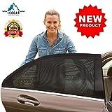 ICECAR - 2 Pezzi - Tendine Parasole Auto Bambini Originali Nuovo Tessuto 130g/m² Tessuto Premium Royal Stretch 2020 - Protezione Bambini, Raggi solari UV, Insetti, Privacy