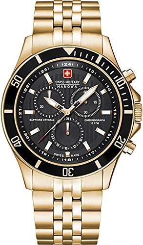 SWISS MILITARY-HANOWA Herren Analog Quarz Uhr mit Edelstahl Armband 06-5183.7.02.007