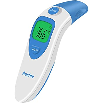 TKLOVIN Professional infrared digital medical thermometer with Fever Warning Jasmine Instant Reading FDA and CE Approved Baby Ear and Forehead Thermometer Clinical Monitoring
