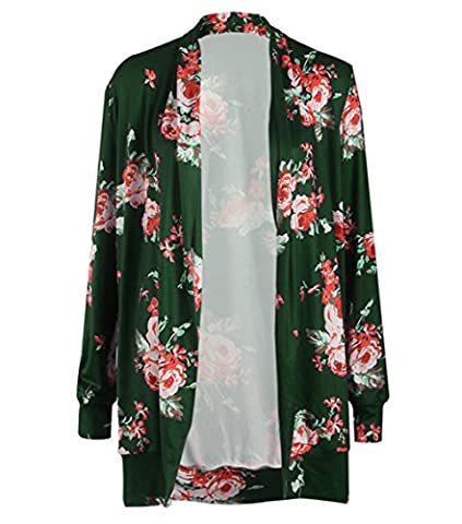 Clasichic Womens Boho Irregular Long Sleeve Wrap Kimono Cardigans Coat Tops Outwear (X-Large,