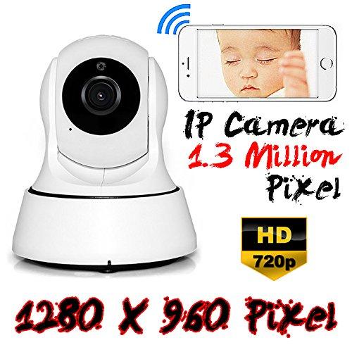 Beste 1.3MP Wifi Wlan 2.4GHz Netzwerk IP Kamera HD P2P 720P/960P Internet Kamera Überwachungskamera Innenbereich Babyphone CCTV Security Camera Surveillance System 2-Wege Audio und Nachtsicht Funktion Schwenk- und Neigefunktion Rotierende, drahtlose HD-Überwachungskamera für Zuhause