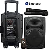 """Portable PA Speaker System, Bluetooth, 300W 12"""" Active Powered & Rechargeable, USB, MP3"""