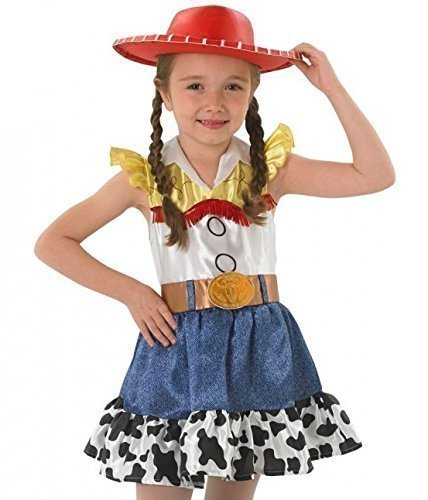 offiziell lizenziert Disney Toy Story Mädchen Jessie Cowgirl büchertag Halloween Kostüm Kleid Outfit alter 3-10 Jahre - Multi, Multi, 7-8 Years (Halloween Cowgirl)