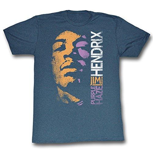 Jimi Hendrix - Herren Haze T-Shirt Navy Heather