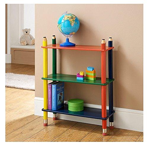 eShop4U Kinder Colorful Bleistift Crayon Bücherregal Aufbewahrung Schlafzimmer Spielzimmer Möbel