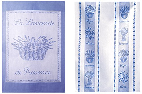 COUCKE die Anglais 2Stück Geschirrtücher Baumwolle 50x 75cm, Baumwolle, lavendelfarben, 50 x 75 - Geschirrtücher Lavendel