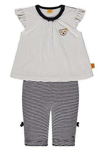 Steiff Collection Mädchen Bekleidungsset 2tlg. Set T-Shirt Flügelarm + Caprileggings 6832805, Blau (Marine 3032), 80 (T-shirt Marine-blau-mädchen)