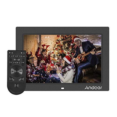 Andoer 10 Zoll Digitaler Bilderrahmen Vollansicht IPS Bildschirm 1080 P Werbemaschine 1200 * 800 Auflösung G-Sensor Unterstützung Shuffle Spielen mit Fernbedienung Weihnachten Geburtstagsgeschenk