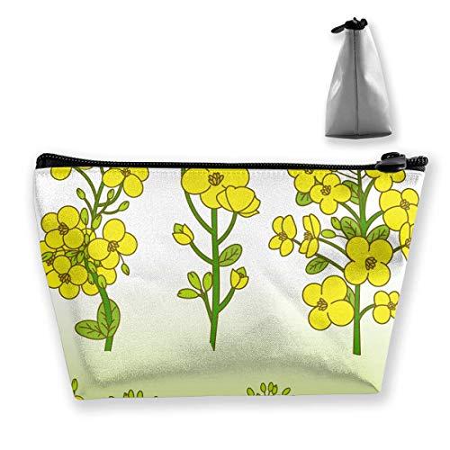 Canola Flower Illustration Trapez Damen Kosmetiktaschen Multi Function Wash Aufbewahrungstasche