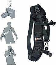 حزام الكاميرا Top1Shop، حزام الكاميرا مع لوحة سريعة الفتح، حزام للرقة/الكتف قابل للتعديل ومريح للكاميرا DSLR/S