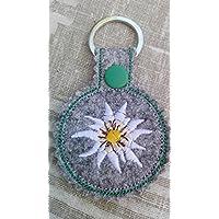 Schlüsselanhänger, Taschenbaumler, Filz, Edelweiß