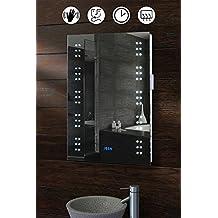 My-Furniture - Espejo de baño iluminado led ip44 antivaho afeitadora sensor - matrix