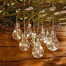 Solalite® - guirnalda de luces LED para interior y exterior, 10Bombillas con energía solar, para jardín, casa, bodas, Patio, Fiesta de Verano/Vacaciones
