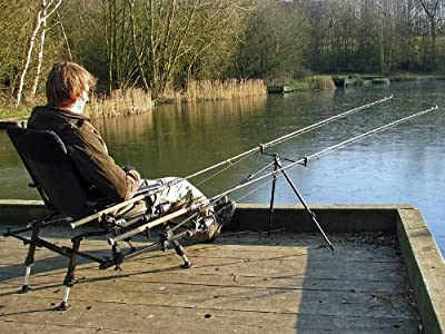 Cyprinus Whole Hog Fishing padded arm Chair seat + Rod Pod rod rest ideal for Coarse and Carp Fishing from Cyprinus