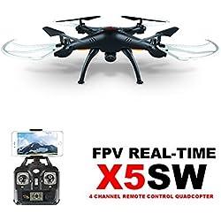 GoolRC Syma X5SW 2.4G Gyro RC Wifi FPV Vidéo en Temps Réel Quadcopter Drone avec Caméra 0.3MP Noir