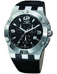 Sandoz 81287-05 - Reloj de caballero de cuarzo, correa de piel color negro