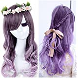 Superwigy Fashion Ombre Purple Kinky Curly Synthetic Wig Glueless Two Tone Heat Resistant Hair Wowen Wigs/new